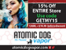 Area Shopper ad for https://atomicdogvapor.com/